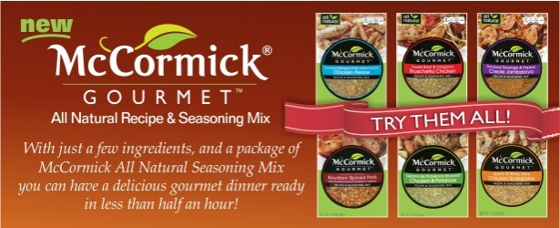McCormick Gourmet Recipe and Seasoning Mixes