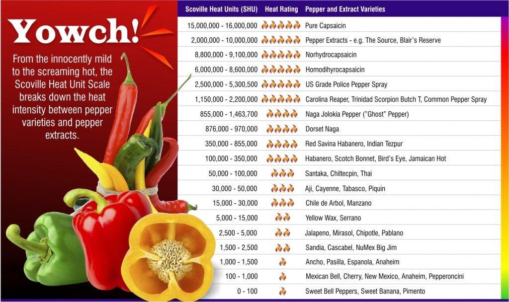 Exothermic Food List