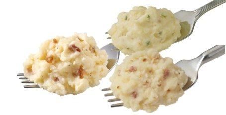 Idahoan Mashed Potatoes-on fork
