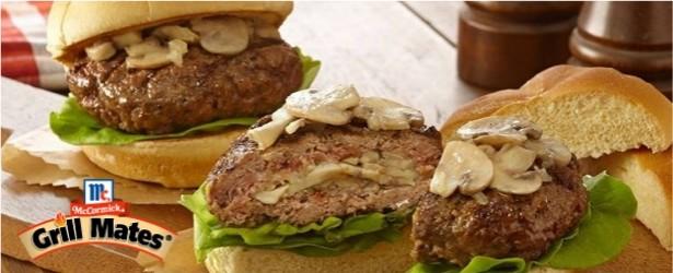 Grilled Mushroom Swiss Burgers Recipes — Dishmaps
