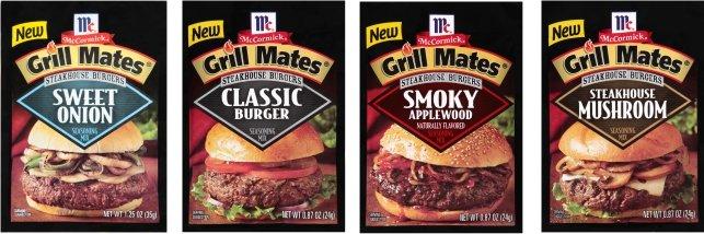 McCormick Grill Mates Steakhouse Burgers Seasoning mixes