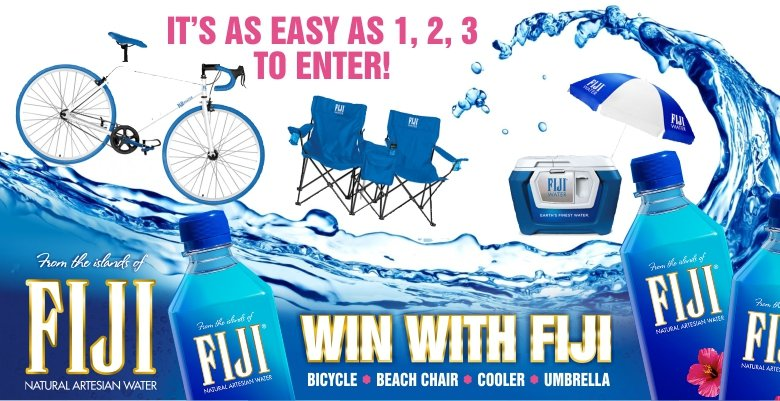 FIJI WATER PROMO SUMMER 2017