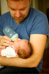 August is Breastfeeding Month-father