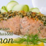 Parmesan Herb Crusted Salmon-slider