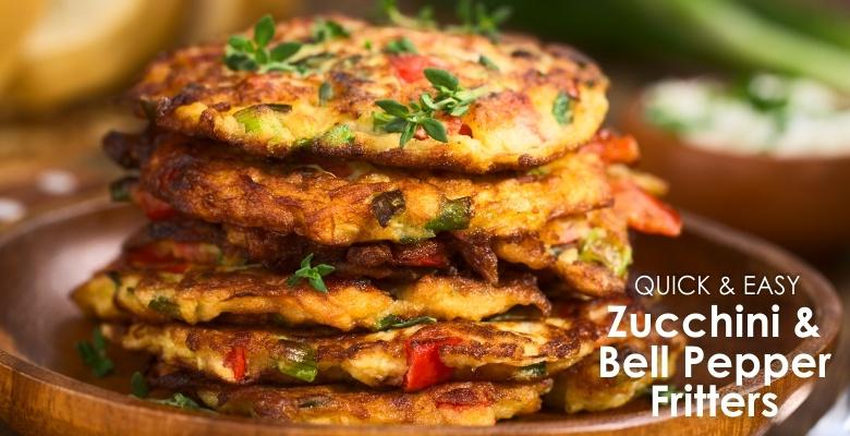 Zucchini & Bell Pepper Fritters-sld