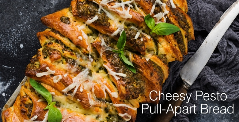 Cheesy Pesto Pull-Apart Bread-sld